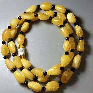 保真支持鉴定 天然波罗的海鸡油黄蜜蜡项链一条