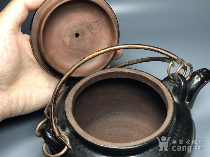 精品 清代老紫砂加彩茶壶一把图8