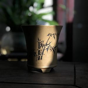 精品 清晚民国时期紫砂盆一件