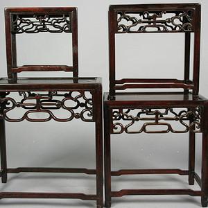 红木长方边桌四张