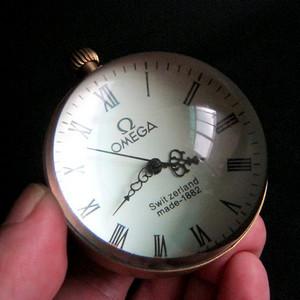 水晶球欧米加全自动圆球形台钟