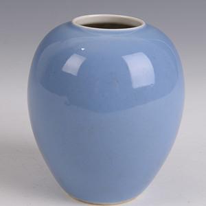 欧洲回流清天蓝釉水罐