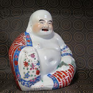 民国弥勒佛塑像
