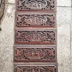 楠木雕刻板一套