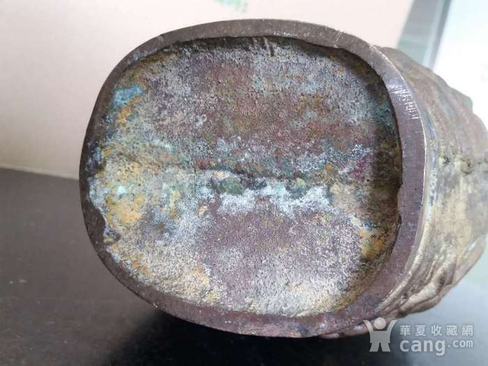清代十八罗汉铜橄榄瓶图12
