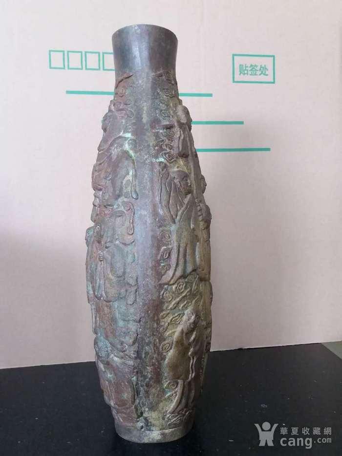 清代十八罗汉铜橄榄瓶图4
