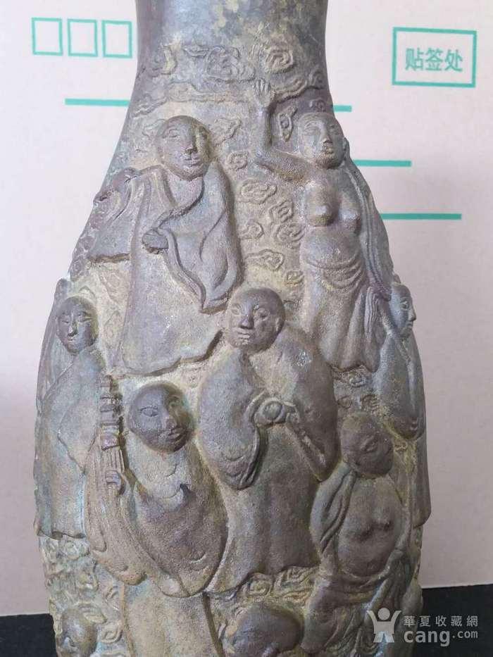 清代十八罗汉铜橄榄瓶图10