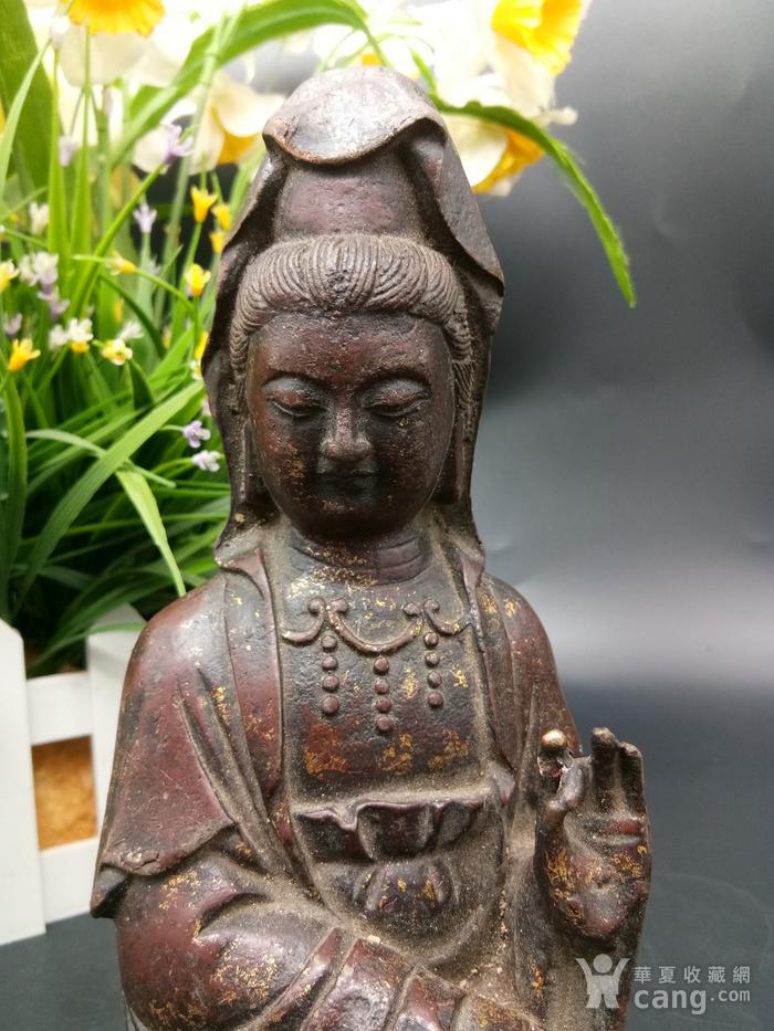 清铜鎏金佛像图5