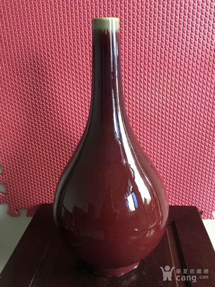 雍正年制款郎红釉胆瓶.图5