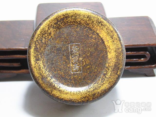 清 老铜打造 铜 圆形 墨盒图3