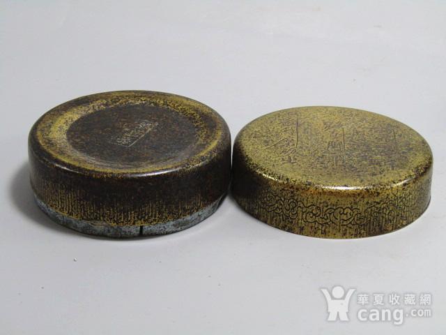 清 老铜打造 铜 圆形 墨盒图2