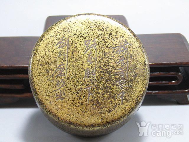 清 老铜打造 铜 圆形 墨盒图1