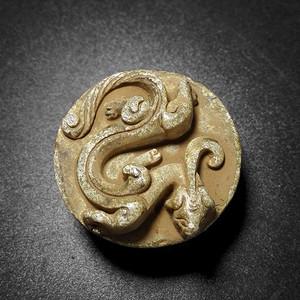 浮雕魑龙剑尾巴