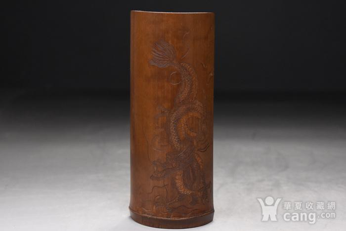 联盟 百年老梅竹手工雕茶则图1