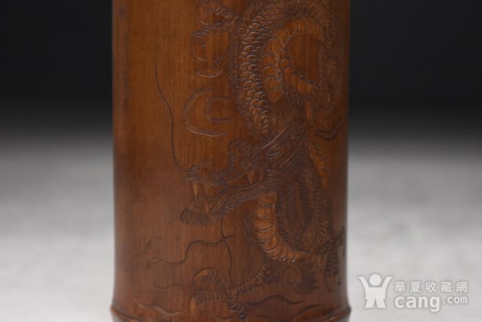 联盟 百年老梅竹手工雕茶则图4