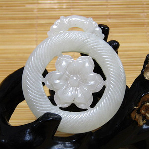 清和田白玉双面玉佩  挂件 油润度极佳 包浆熟厚