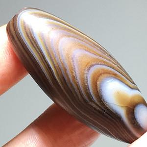 民国 天然 千层丝 玛瑙 大勒子 花纹非常漂亮