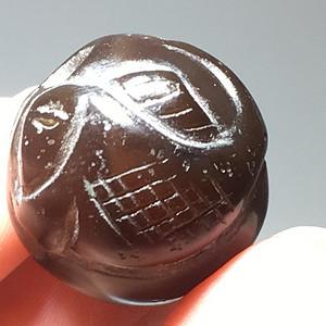 清代 江河 玛瑙 连年有余 单珠 工艺不错 包浆自然