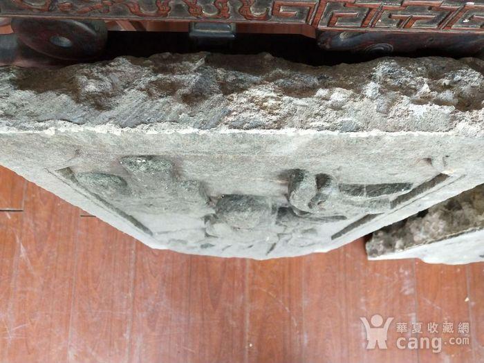 重器  青石雕刻人物石板一对图7