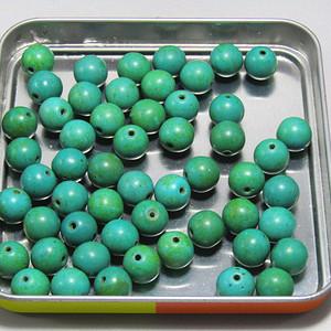 有些年份原矿高瓷松石 珠 50多粒