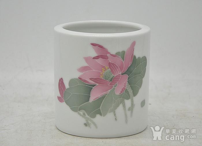 湖南醴陵国瓷研究所釉下彩笔筒图1