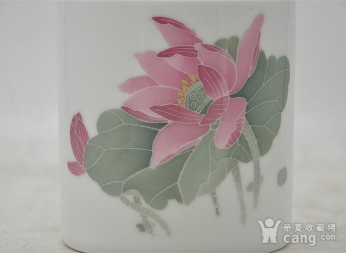 湖南醴陵国瓷研究所釉下彩笔筒图3