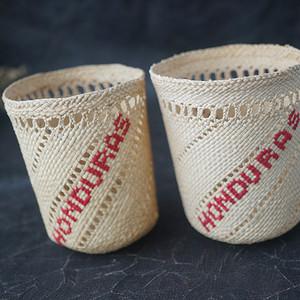 中美洲洪都拉斯手编天然材质杯套