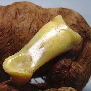有年份 L指骨 油性极大 包浆厚重