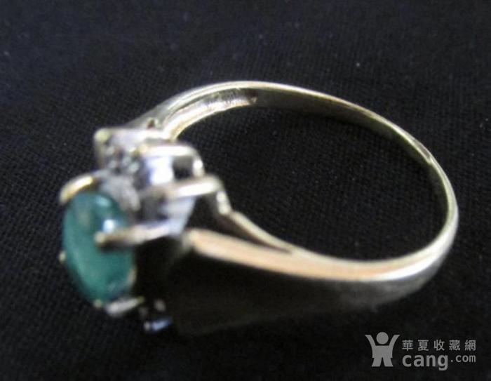 美国回流的祖母绿镶嵌钻石戒指图2