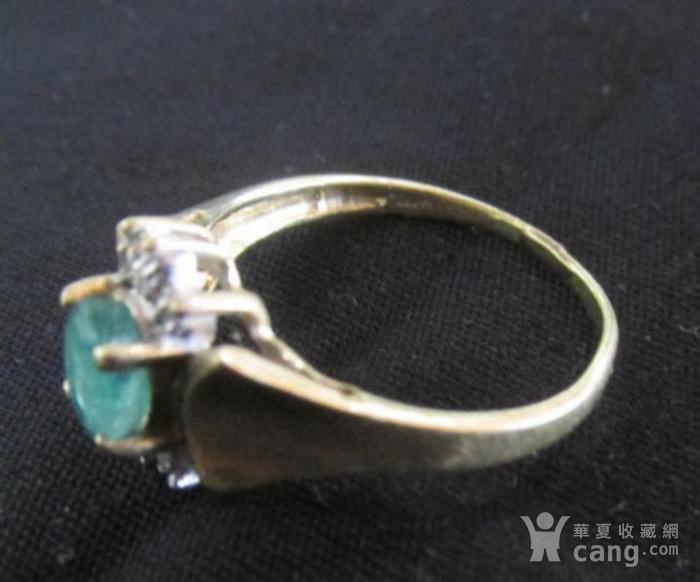 美国回流的祖母绿镶嵌钻石戒指图3