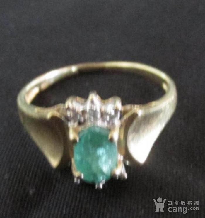 美国回流的祖母绿镶嵌钻石戒指图4