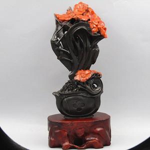 重器 民国南红玛瑙 俏色巧雕摆件设计巧妙 雕工一流
