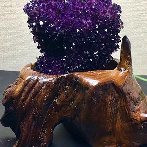 联盟 精品天然紫水晶簇摆件