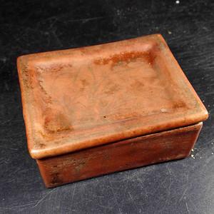 矾红印泥盒