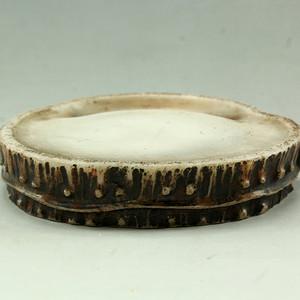 33竹节形白端石砚