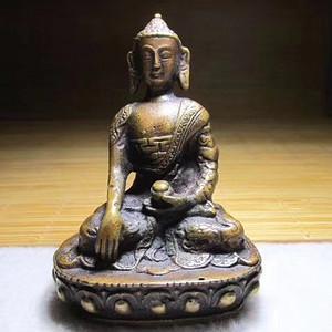 开门到代 清早期 铜质 精工铸造 佛主坐像