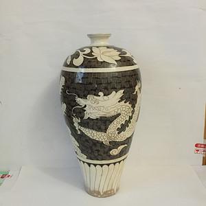 127 磁州窑龙凤梅瓶