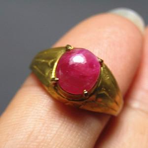 回流 斯里兰卡 红宝石 戒面戒指