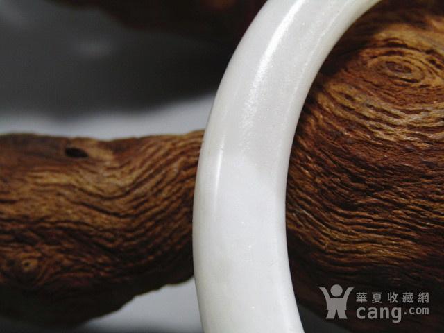 民国和田一级白玉 圆条手镯 玉质细腻熟润图4