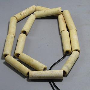重器战汉 鸡骨白玉 桶珠15颗 包浆厚重