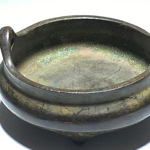 清代 铜制 小供 香炉包浆自然 工艺不错简洁大方