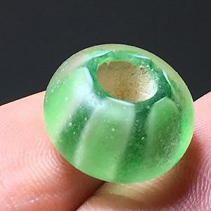 清代 瓜纹 琉璃 珠子 花纹非常漂亮 包浆老厚
