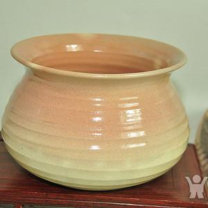 日本回流名家有款!纯手工烧作陶器茶皿茶道皿建水茶具!