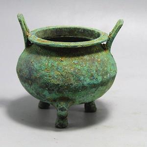 战汉青铜 香炉 包浆厚重