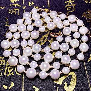夏天就要美美哒!超强光泽正圆贝宝珠漂亮白色海水贝珠项链手链