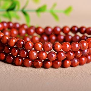 川红柿子红!天然原矿四川九口南红玛瑙近满肉火焰红圆珠多圈手链
