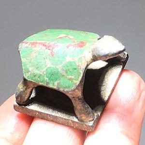清代 银制 乌龟印 手工雕刻 造型简洁