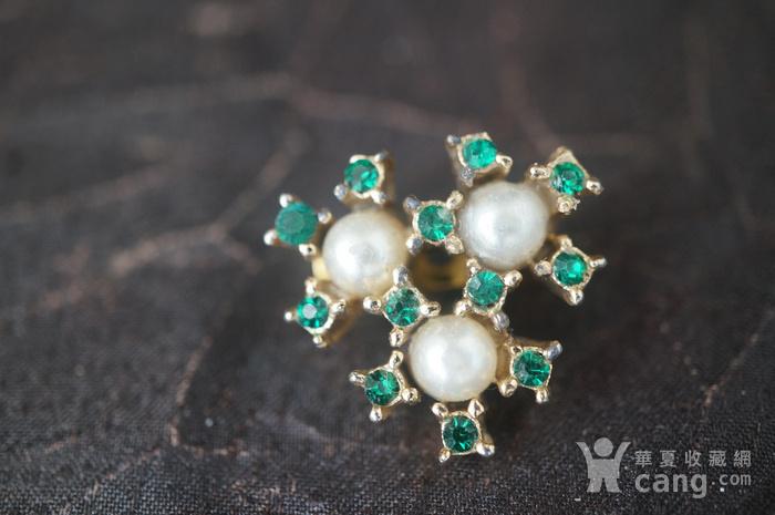 珍珠绿钻别针图3