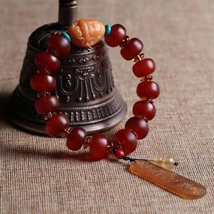 联盟 正宗纯天然西藏十年藏传供养级老玲羊角手串