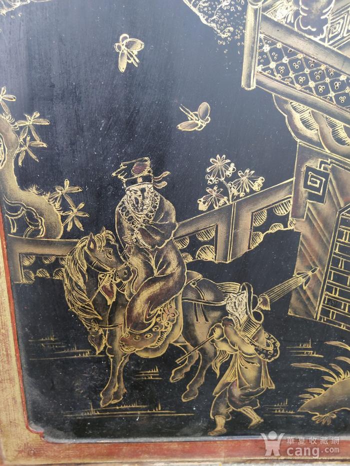 一对特别漂亮的镏金人物画板图4
